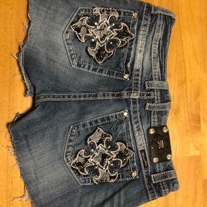 Miss Me Jean shorts blue denim Size 31